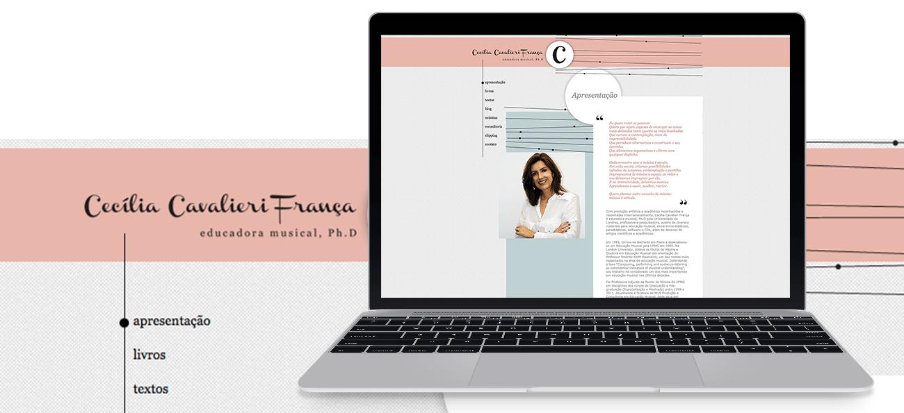 Cecília Cavaliére - identidade visual e site